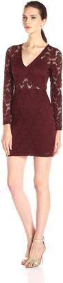 Nightcap Clothing Women's Deep V WallFlower Lace Dress