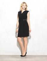 dressbarn Jeweled Faux-Wrap Knit Dress