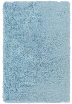 Diva At Home 2' x 3' Fuzzy Fascination Glace Blue Hand Tufted Super Soft Area Throw Runner