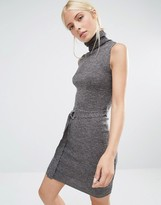 Brave Soul Tie Waist Knitted Dress