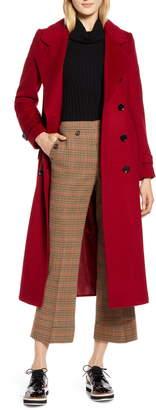Halogen x Atlantic-Pacific Long Wool Blend Trench Coat