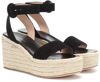Gianvito Rossi Exclusive to Mytheresa a Billie 45 suede espadrille wedges