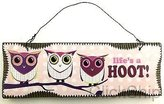 """MY Family of Three Owls"""" Life's a HOOT!"""" Design Wall Hanging Wood Sign Decoration 3650"""