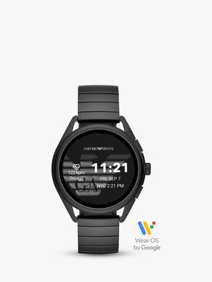 Emporio Armani Connected ART5020 Men's Bracelet Strap Touch Screen Smartwatch, Black
