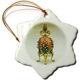 Faberge 3dRose LLC orn_565_1 Eggs - Picturing Egg Lilies Of The Valley - Ornaments