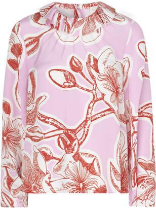 Stine Goya Poppy Silk Flounce Collar Top