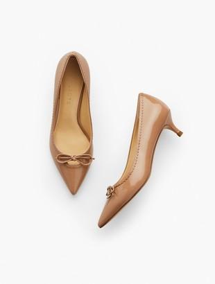 Talbots Sylvie Patent Leather Kitten Heel Pumps - Keyhole Detail