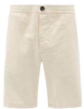 Thumbnail for your product : Oliver Spencer Drawstring Cotton-blend Shorts - Cream