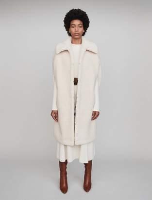 Maje Faux fur cape coat