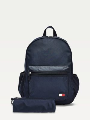 Tommy Hilfiger Kids Backpack with Pencilcase