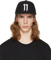 11 By Boris Bidjan Saberi Black Logo Snapback Cap