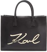 Karl Lagerfeld Women's K/Metal Signature Shopper Bag Black