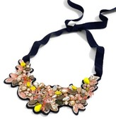 J.Crew Women's Botanical Embroidered Crystal Bib Necklace