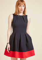 ModCloth Luck Be a Lady A-Line Dress in Black & Red in 8 (UK)
