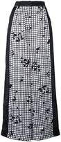 Sacai grid print wide leg trousers