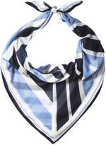 Joe Fresh Women's Geometric Print Scarf, Blue (Size O/S)