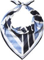 Joe Fresh Women's Geometric Print Scarf, Blue (Size O/S)