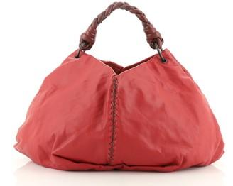 Bottega Veneta Aquilone Fortune Cookie Hobo Leather with Intrecciato Detail Large
