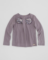 Little Marc Jacobs Sequin-Bow Jersey Top, Sizes 2-5