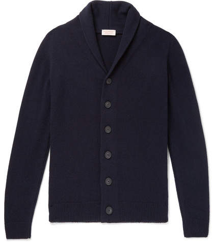 John Smedley Jakob Shawl-Collar Wool And Cashmere-Blend Cardigan