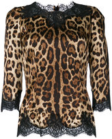 Dolce & Gabbana leopard print blouse - women - Silk/Cotton/Polyamide/Spandex/Elastane - 40