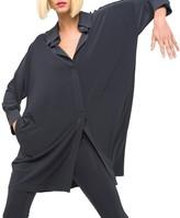 Norma Kamali Box Shirt to Knee