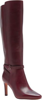Banana Republic Leather High-Heel Buckle Boot
