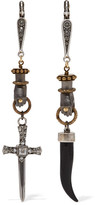 Lanvin Marella Gold And Silver-plated Crystal Earrings - one size