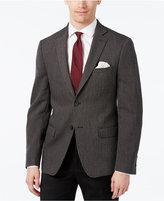 Calvin Klein Men's Slim-Fit Black and Gray Herringbone Sport Coat