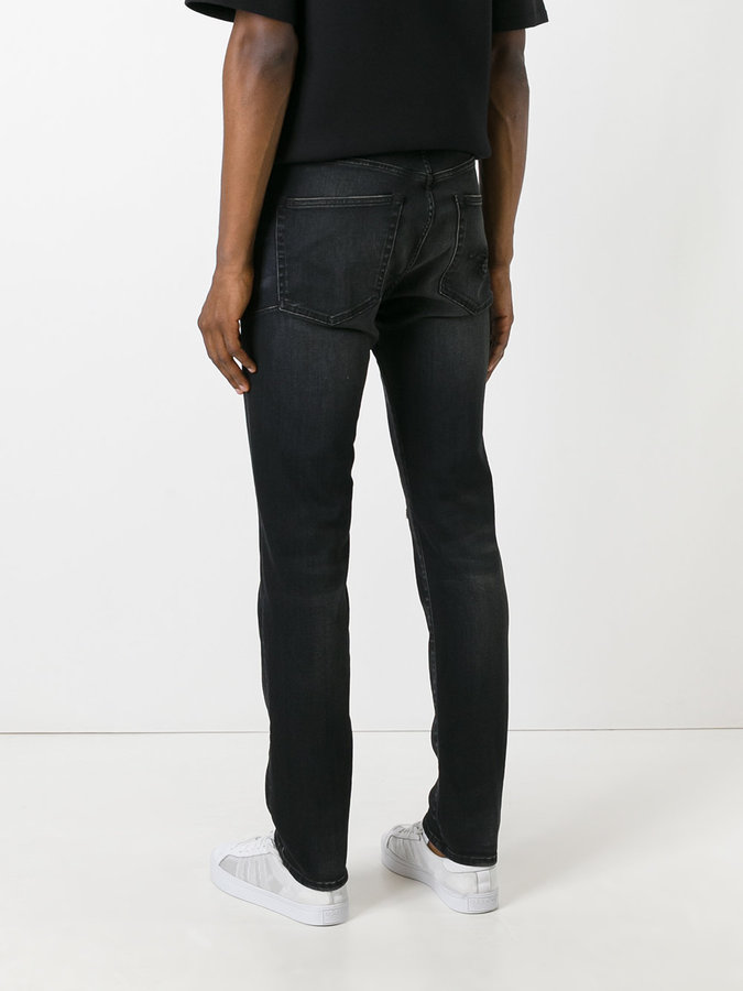 R 13 ripped slim-fit jeans