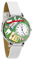 Whimsical Watches Women's U0620032 Unisex Silver Dental Assistant White Leather And Silvertone Watch