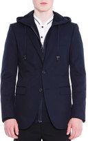 Lanvin Attitude Two-Button Soft Jacket, Navy