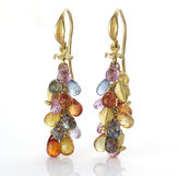 Gump's Barbara Heinrich Sapphire Briolette Earrings