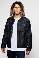 boohoo Raw Indigo Denim Western Jacket