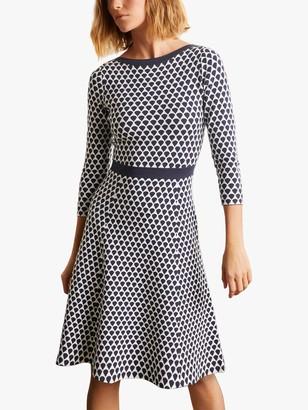Boden Kristen Nip Waist Dress, Ivory