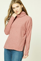 Forever 21 FOREVER 21+ Brushed Knit Turtleneck Sweater