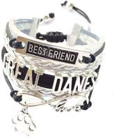 Generic Braided Great Danes Bracelet Best Friend Dog Paw Charm