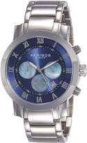 Akribos XXIV Men's AK622BU Grandiose Chronograph Quartz Stainless Steel Bracelet Watch