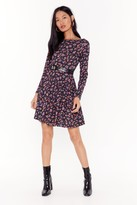 Nasty Gal Womens Our Finest Flower Floral Mini Dress - black - 6, Black
