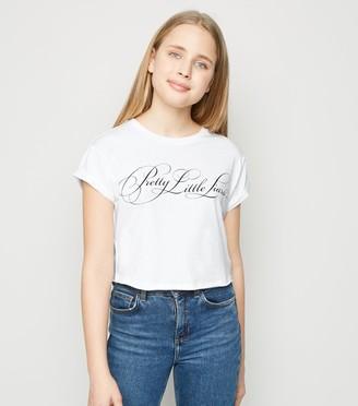New Look Girls Pretty Little Liars Slogan T-Shirt