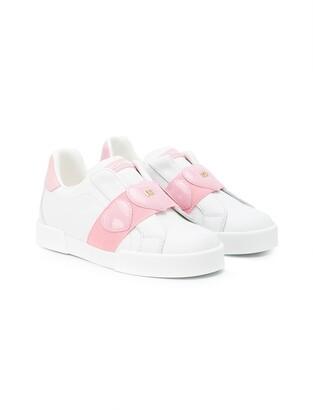 Dolce & Gabbana Portofino light sneakers with hearts
