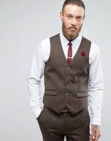 Harry Brown Wool Herringbone Vest