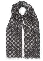 Reiss BRICKARD Geometric Wool Scarf