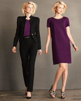 Magaschoni Double-Face Bead-Neck Dress