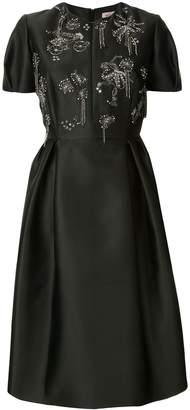 Dice Kayek embellished chest flared dress