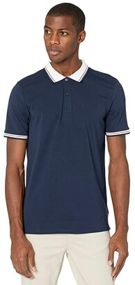 Ben Sherman Short Sleeve Supima Polo (Navy Blazer) Men's Clothing