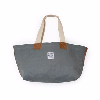 Risdon & Risdon Heritage Grey Canvas and Leather Bag