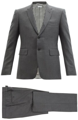 Thom Browne Single-breasted Wool-twill Suit And Tie - Grey