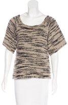 Ulla Johnson Bouclé Short Sleeve Sweater