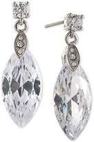 Carolee Silver-Tone Marquise Crystal Drop Earrings